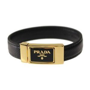 Prada Jewelry - Prada Saffiano Leather Logo Cuff Bracelet